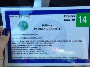 S. Waterfront parking permit