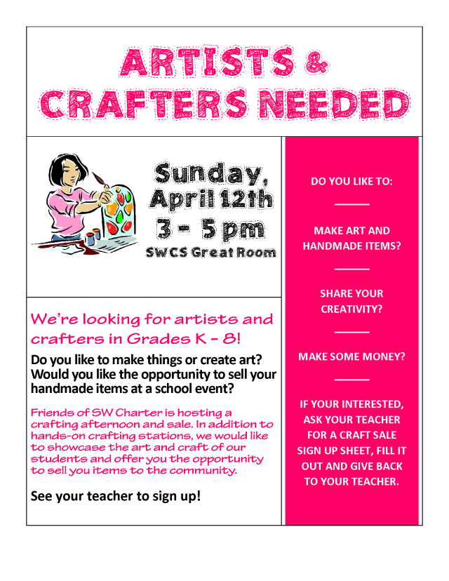 Flyer for Middle Schoolers