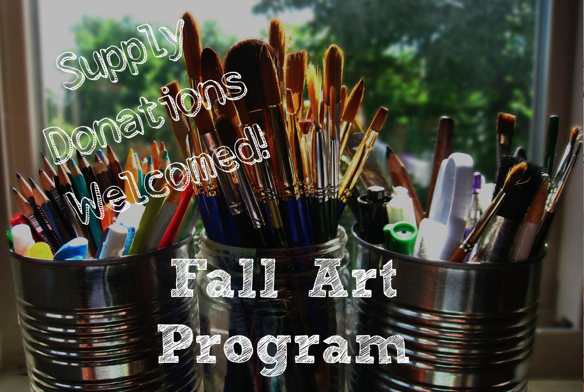Fall art program with melissa and jenny supply donations for Where to donate craft supplies